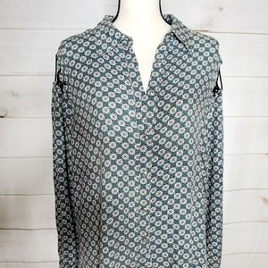 Buckle Brand Gilded Intent Laced Back Western Top